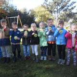Podzimní sportovní hry na zahradě